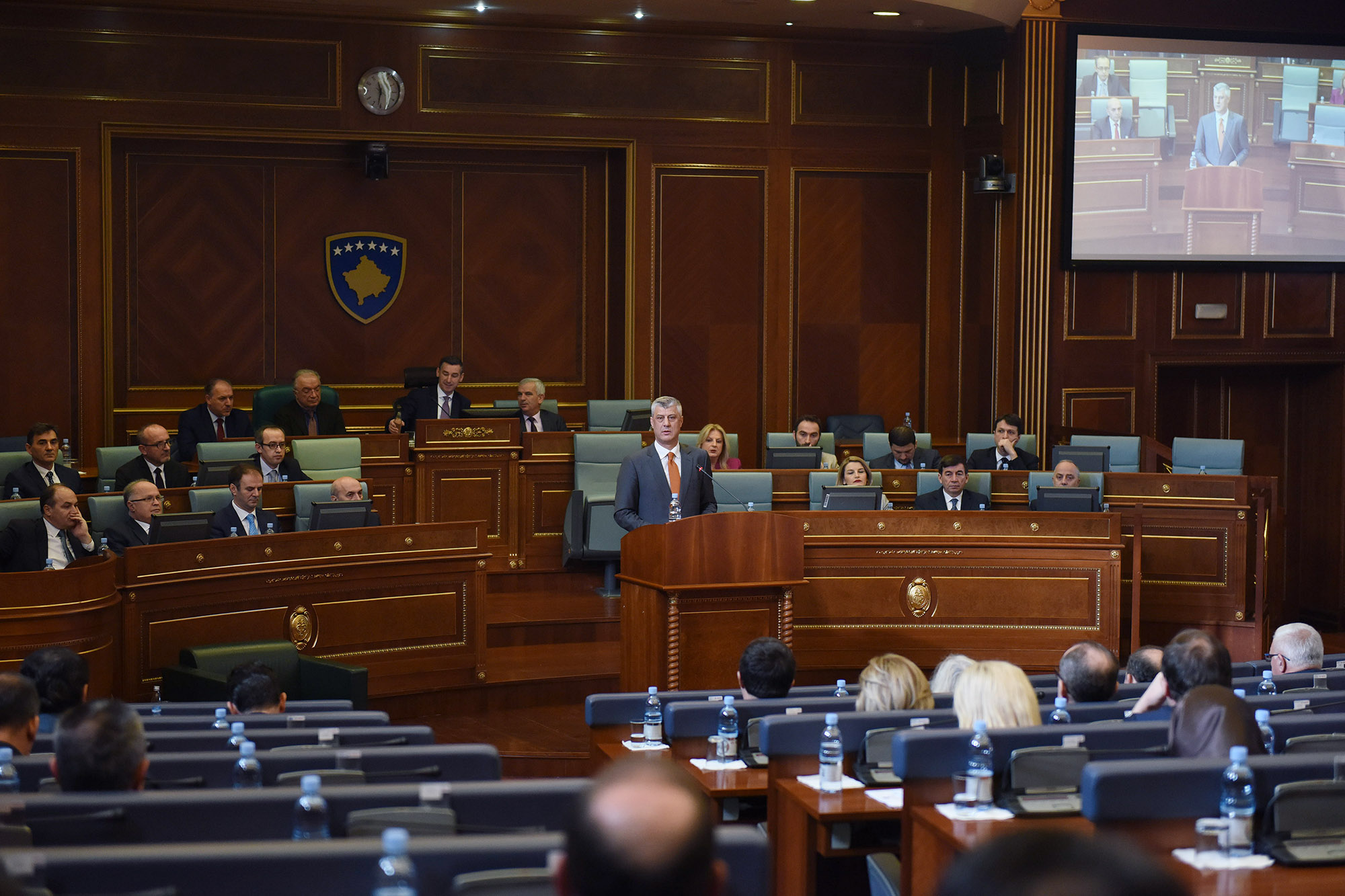 Kosovo President Thaci urges approval of Montenegro border deal