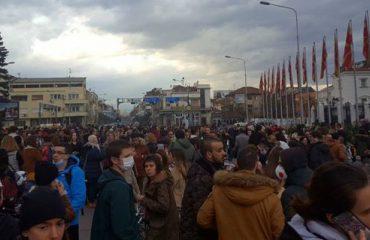 Dalje e vogël e shkupjanëve në protestën për shkak të ndotjes së ajrit