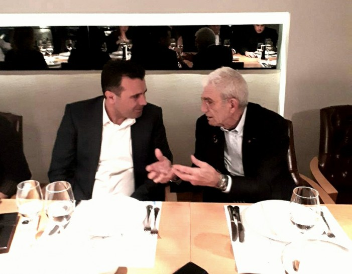 Macedonian PM Zaev and Greek mayor Boutaris meet for dinner in Thessaloniki