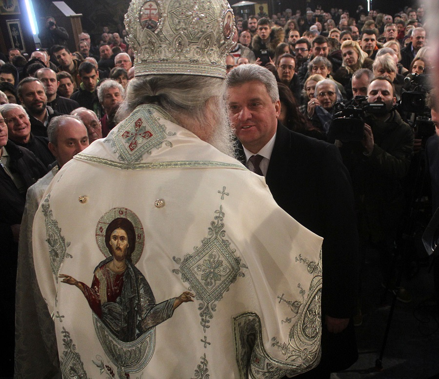Ivanov, Shilegov and Mickovski attend Christmas liturgy in St. Clement of Ohrid church