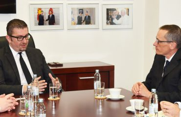 Opposition VMRO-DPMNE leader Mickoski meets British Ambassador Garrett