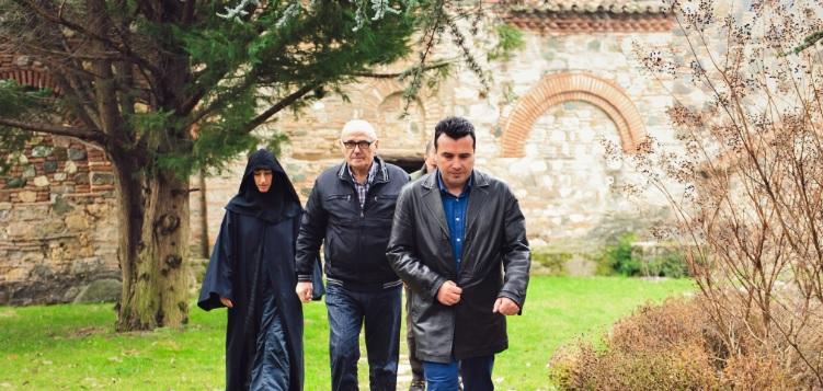 Zaev attends Christmas liturgy in Vodocha monastery near Strumica