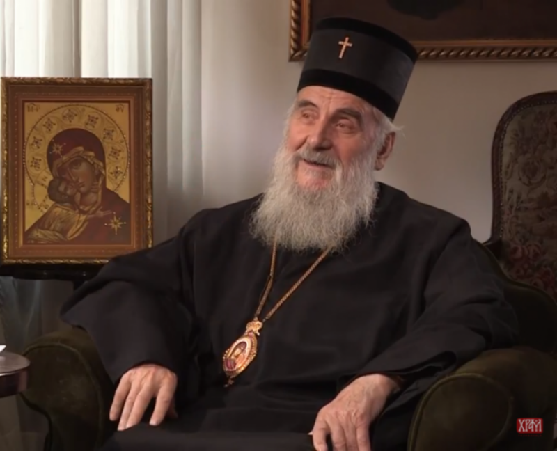 Patriarch Irinej: Solution for MOC can only be found through SOC