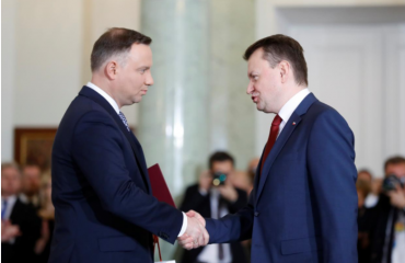 New Polish PM fires top ministers to reduce tensions with EU