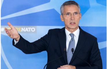 NATO chief visits Skopje
