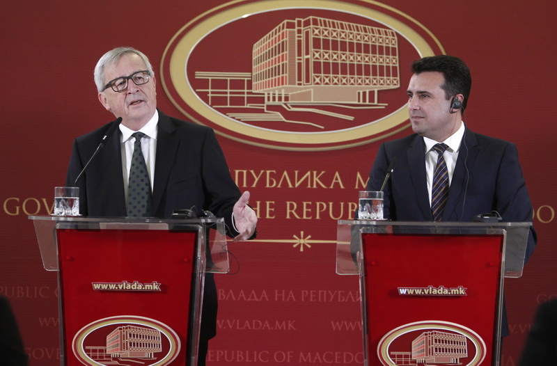 Juncker: Macedonia 'on right track', EC might propose start of talks in few months if progress continues