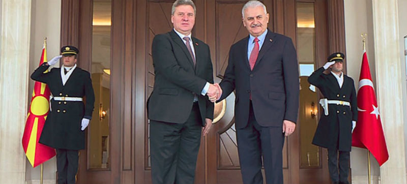 President Ivanov meets Turkish PM Yildirim, Speaker Kahraman