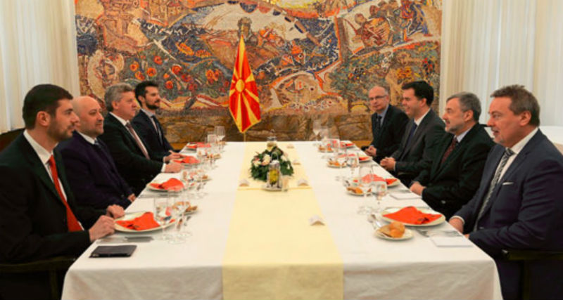President Ivanov organizes traditional working lunch for V4 Ambassadors to Macedonia
