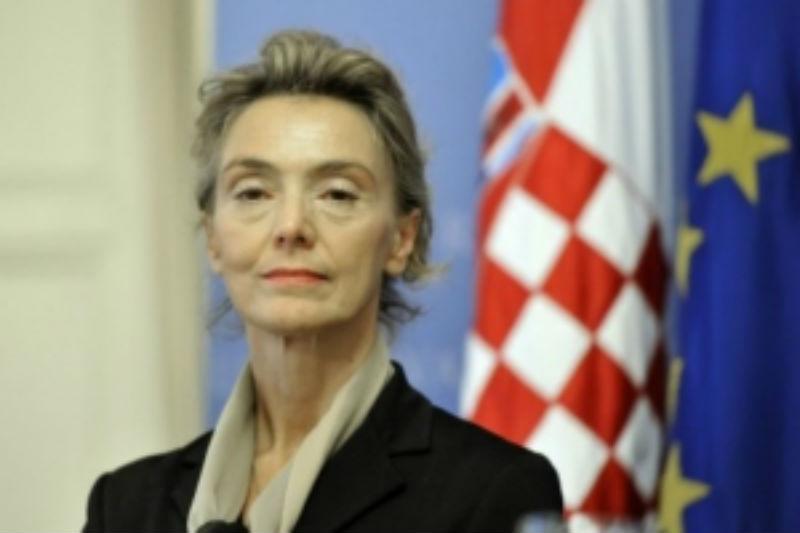 Шефицата на хрватската дипломатија е во посета на Македонија