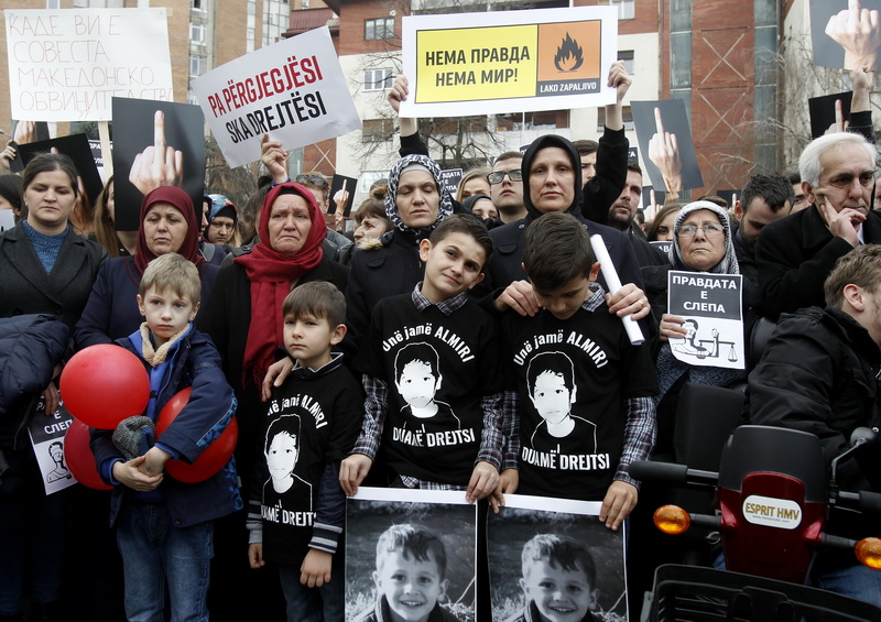 'Almir' - Protest in Skopje over child's death related case
