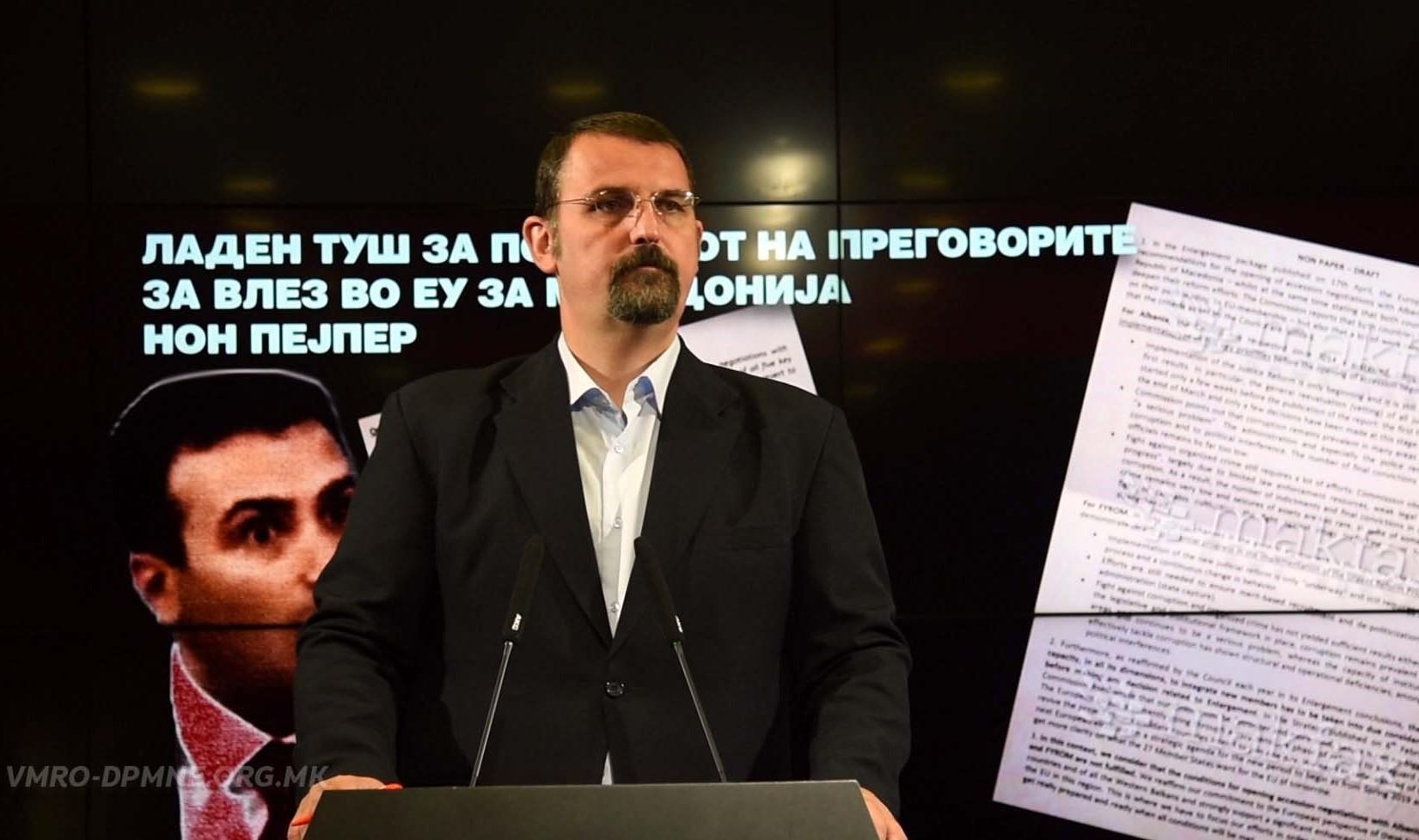 VMRO  Qeveria gënjen se negociatat fillojnë këtë vit