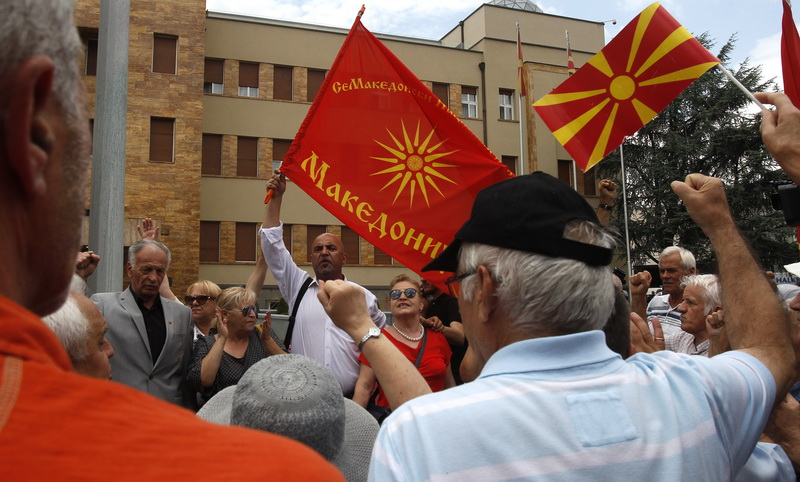 People protest against name deal as MPs approve its ratification