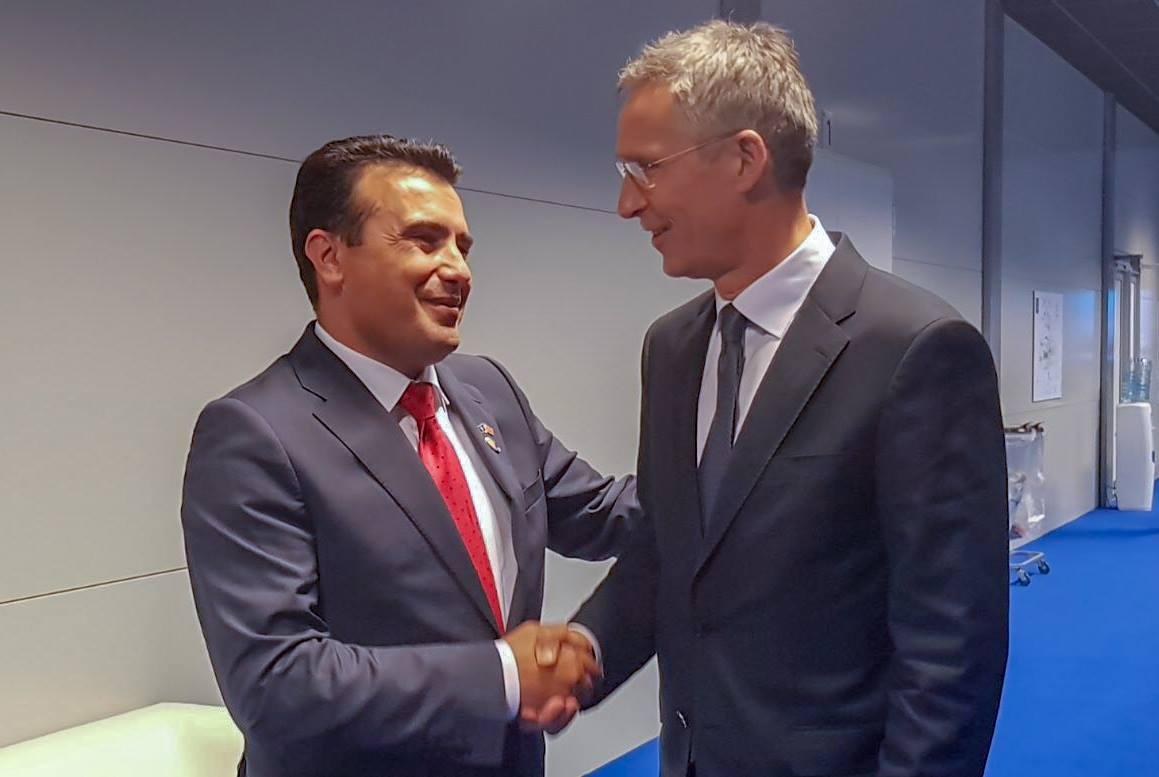 NATO's Stoltenberg officially hands over membership invitation toZaev