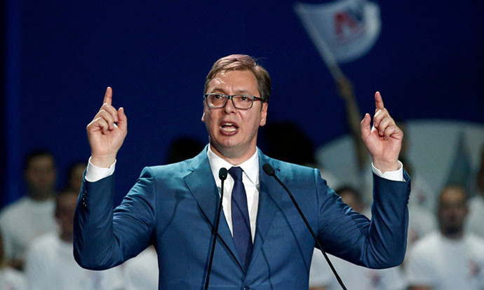 "Vucic ""ready to call early election"" following protests"