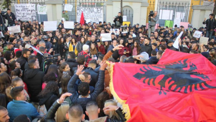 Albania swept by protests