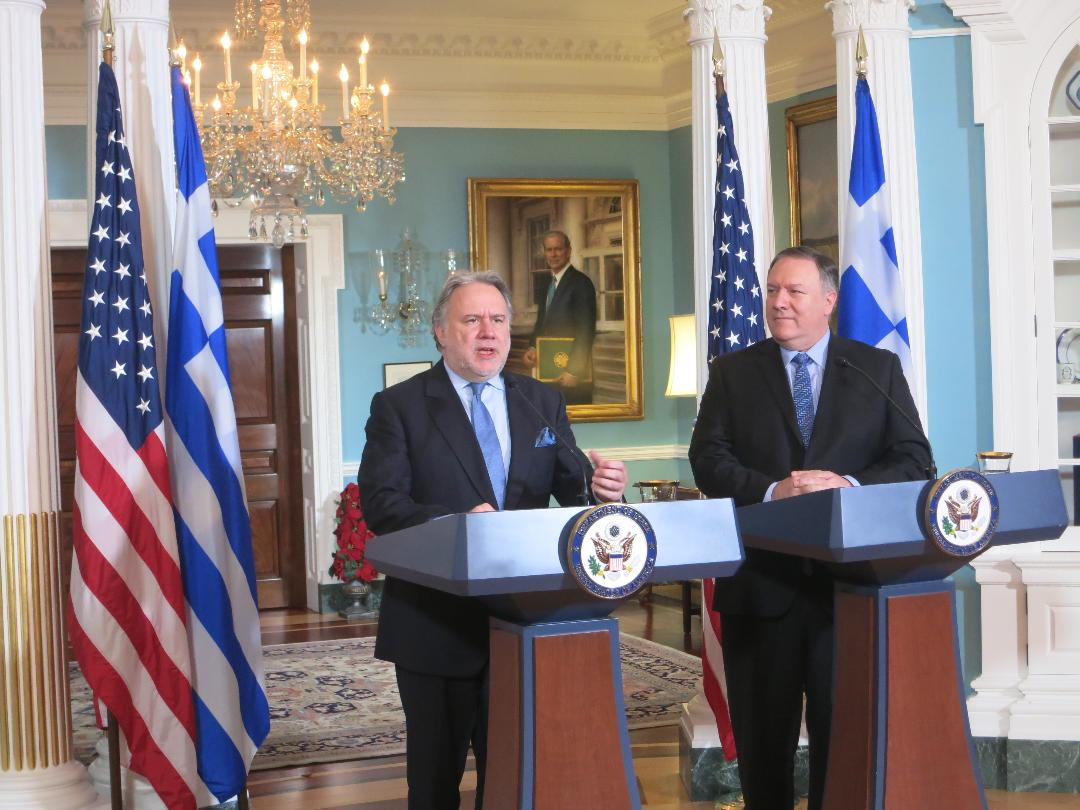 Pompeo underscored Greece's importance as a pillar of stability in the Eastern Mediterranean and Balkans