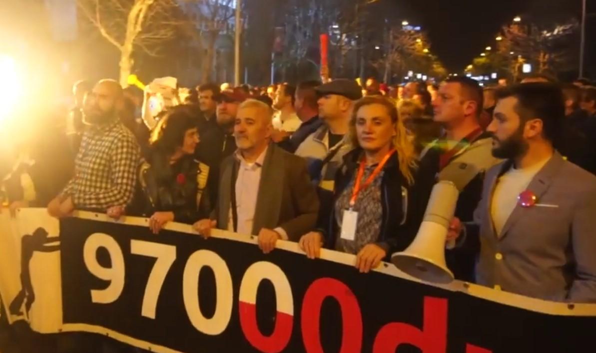 """(ВИДЕО) Нов протест во Црна Гора на """"Спротивстави се 97.000"""" со барање за оставка на Владата"""