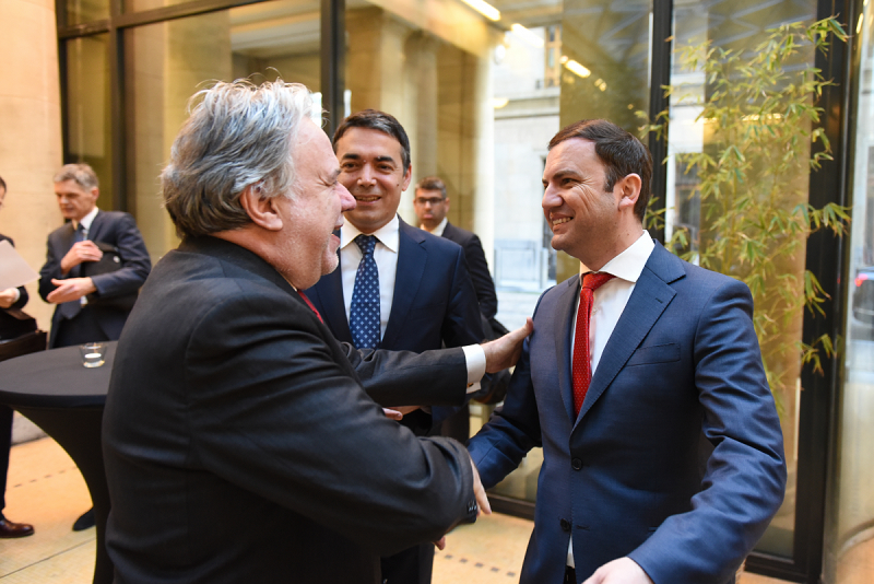Dimitrov and Osmani attend Katrougalos' working breakfast for EU Foreign Ministers