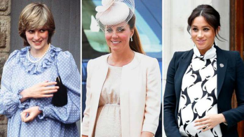 Стилот на кралските трудници: Изгледот на Дајана, Кејт и Меган