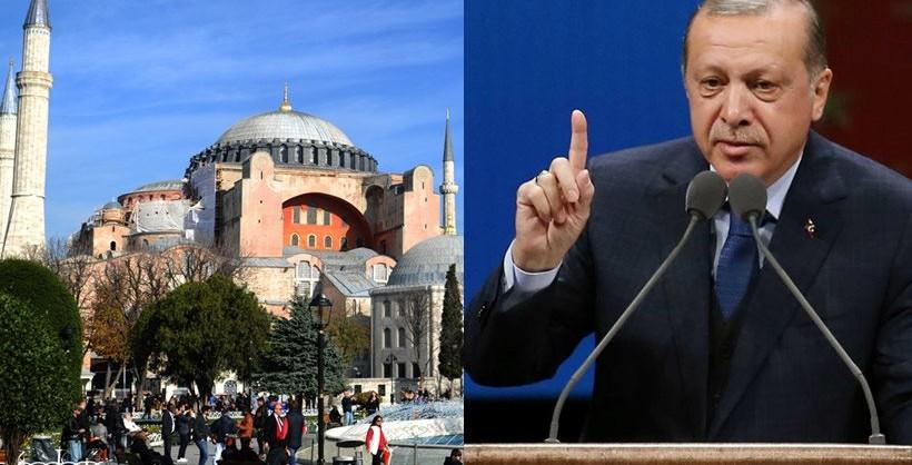 Ердоган не отстапува од своите замисли: Аја Софија ќе ја нарекуваме џамија
