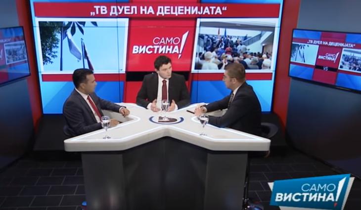 Zaev dhe Mickovski me mesazhe të ndërsjella edhe pas duelit televiziv