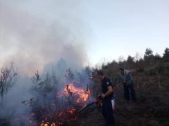 Пожарите не стивнуваат, зафатена пругата кај Драчево