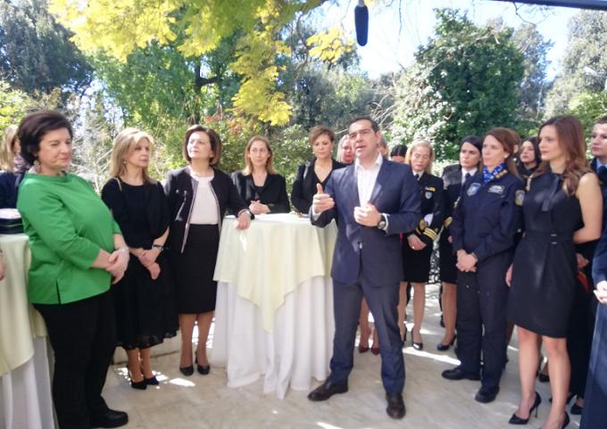 Осми март во Грција: Феминистичи протест и прием кај Ципрас