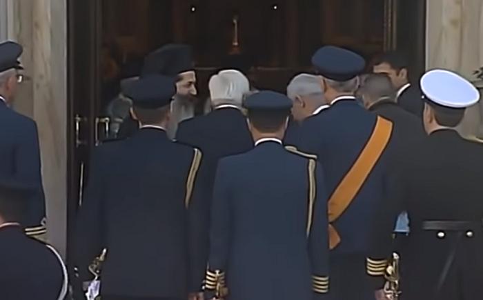 (ВИДЕО) Приведено лице кое се обиде да стигне до грчкиот претседател