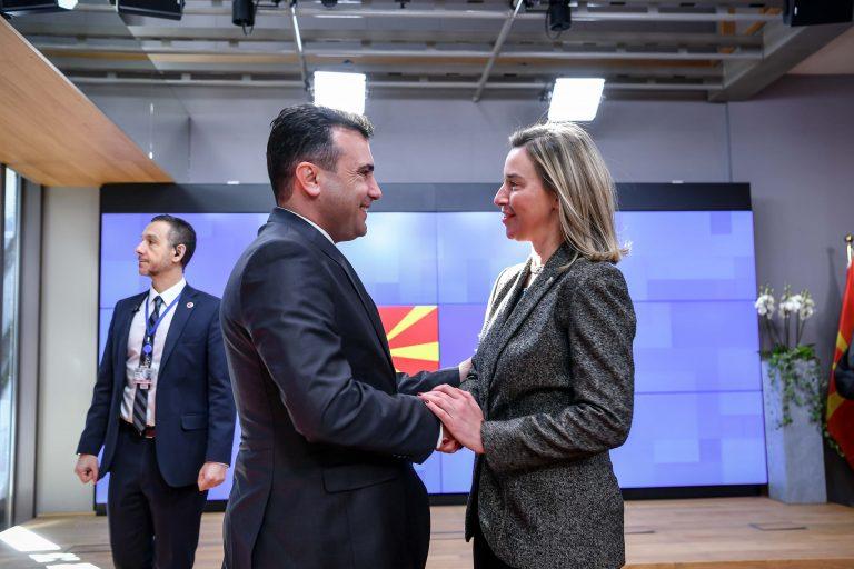 Zaev-Mogerini: Është përshëndetur përparimi, deri në qershor të kompletohen reformat