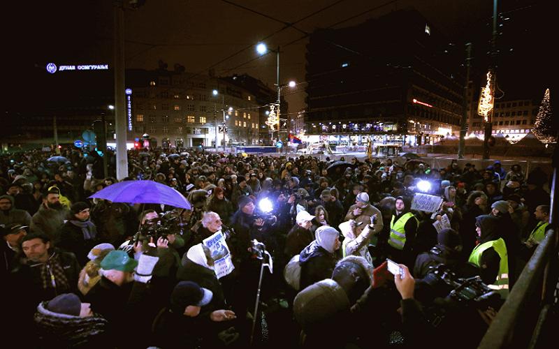 Протести во Србија: Вучиќ времето ти истече, пакувај си ги куферите