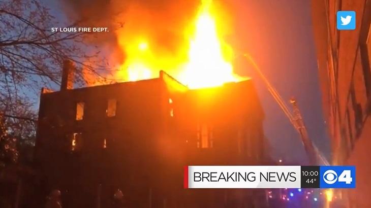 Голем пожар во музејот за ретки ракописи во Сент Луис