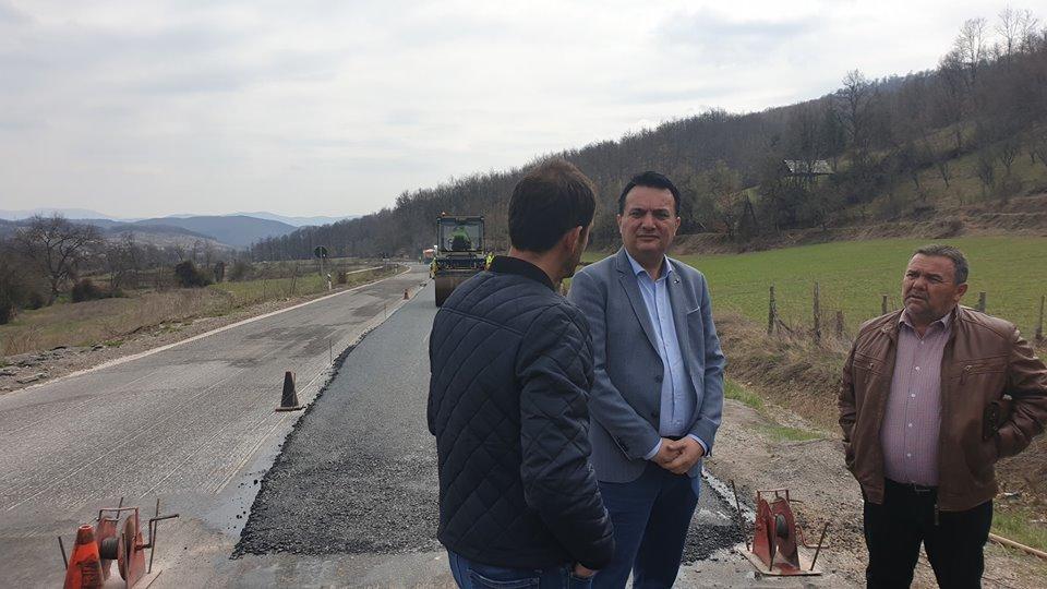 Сугарески: Реконструкцијата на патот од Гостивар до Кичево ќе заврши до јуни