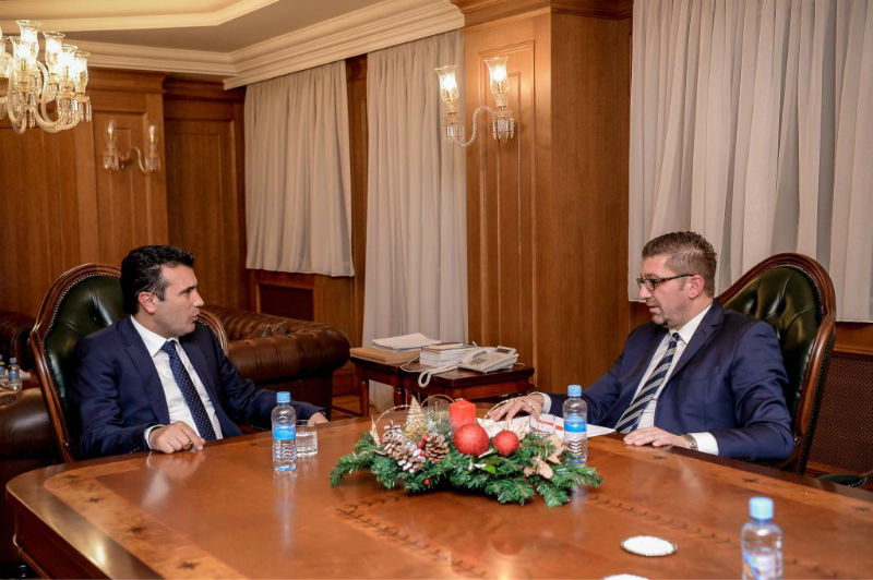 Zaev-Mickoski meeting Sunday evening on presidential elections and reform laws