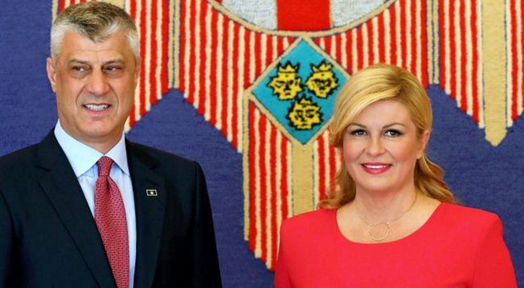 Croatian president Kitarovic against border changes in the Balkans