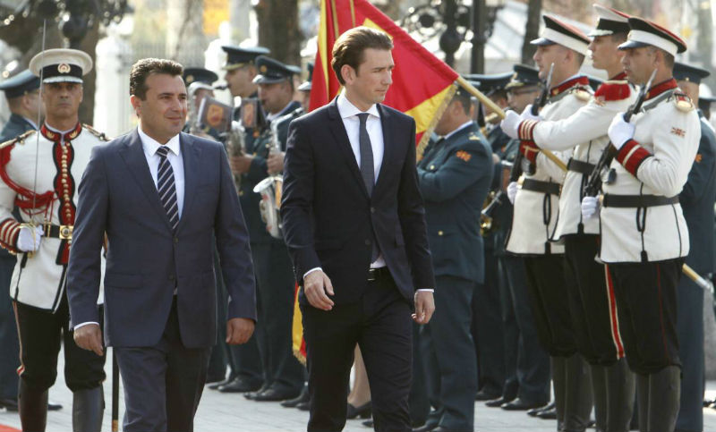 Kurz to meet Western Balkans Prime Ministers, Zaev cancelled participation