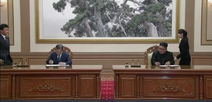 North and South Korean leaders sign joint agreement on denuclearisation