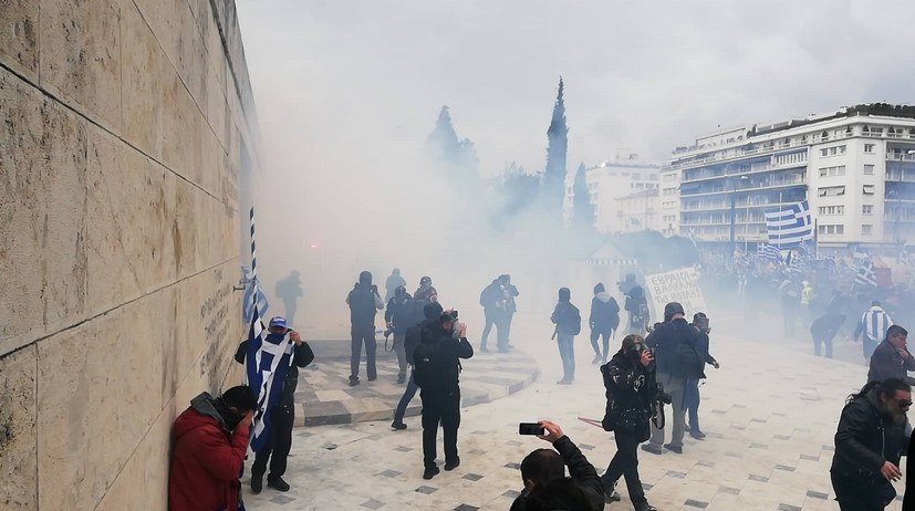Protest against the Prespa Agreement in Athens (Video)
